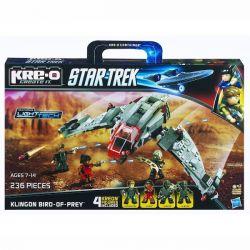 KRE-O A3136 3136 Xếp hình kiểu Lego Klingon Bird-of-Prey Construction Set Klingong Raasant Fighter Klingong Rausant Fighter. 236 khối