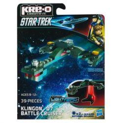 KRE-O A3369 3369 Xếp hình kiểu Lego Klingon D7 Battle Cruiser Construction Set Klingong D7 Battle Cruiser Tàu Tuần Dương Chiến đấu Klingon D7 39 khối