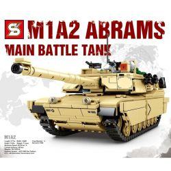 SHENG YUAN SY 0100 Xếp hình kiểu Lego MILITARY ARMY Survival Warfare Survival War M1A2 Main Battle Tank Xe Tăng Chiến đấu Chủ Lực M1A2 1052 khối