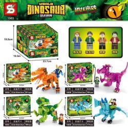 SHENG YUAN SY 1503A 1503B 1503C 1503D Xếp hình kiểu Lego JURASSIC WORLD Dinosaurs Coming Dinosaur World Dinosaur Striping Dinosaur 4 Xây Dựng 4 Con Khủng Long gồm 4 hộp nhỏ 760 khối