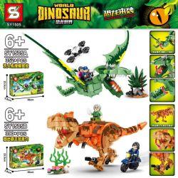 SHENG YUAN SY SY1505A 1505A SY1505B 1505B Xếp hình kiểu Lego JURASSIC WORLD Dinosaurs Coming Dinosaur World Dinosaur 2 Drone Search Wing Dragons, Escape From Overlord 2 Máy Bay Không Người Lái Săn Khủ