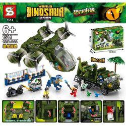 SHENG YUAN SY 1514 Xếp hình kiểu Lego JURASSIC WORLD Dinosaurs Coming Dinosaur World Dinosaur Dinosaur Transport Vận Chuyển Khủng Long 1510 khối