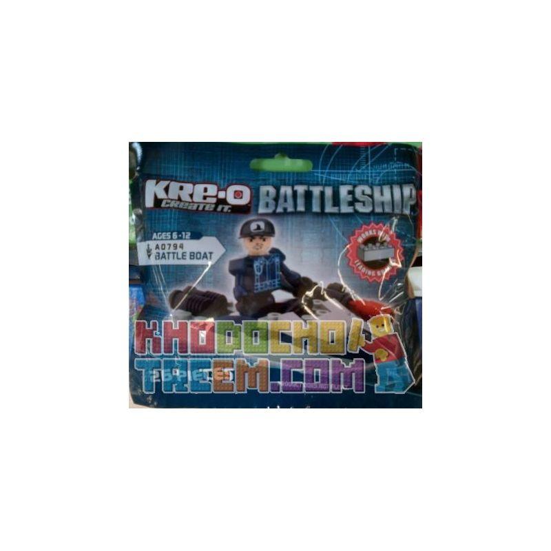 KRE-O A0794 0794 Xếp hình kiểu Lego MILITARY ARMY Battle Boat The Battleship Battles Tàu Chiến 26 khối
