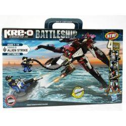 KRE-O 38955 Xếp hình kiểu Lego MILITARY ARMY Alien Strike The Battleship Người Ngoài Hành Tinh đình Công 277 khối