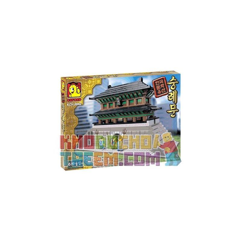 OXFORD KCH0842 0842 Xếp hình kiểu Lego MINI MODULAR Namdaemun (Sungnyemun) Chongli Gate Cổng Chongli. 889 khối