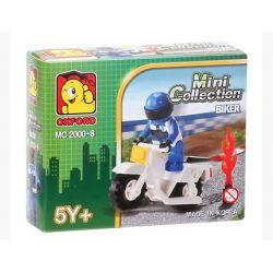 OXFORD MC2000-8 2000-8 Xếp hình kiểu Lego CITY Biker Motorcycle Người đi Mô Tô