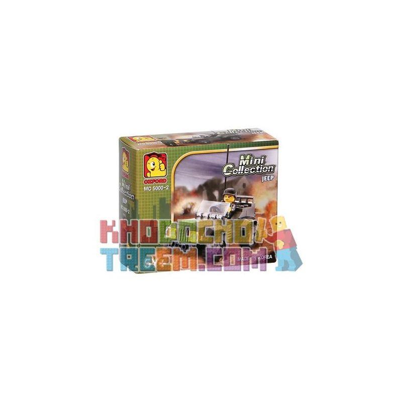 OXFORD MC5000-2 5000-2 Xếp hình kiểu Lego MILITARY ARMY Jeep Xe Jeep