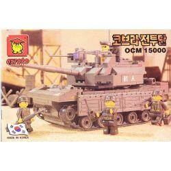 OXFORD OCM15000 15000 SLUBAN 6500 Xếp hình kiểu Lego MILITARY ARMY K1A1 Tank Korean M1A1 Tank Xe Tăng M1A1 Của Hàn Quốc