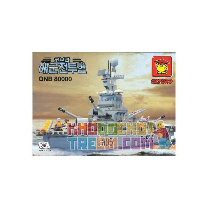 OXFORD ONB80000 80000 Xếp hình kiểu Lego MILITARY ARMY Destroyer Ship Kẻ Huỷ Diệt