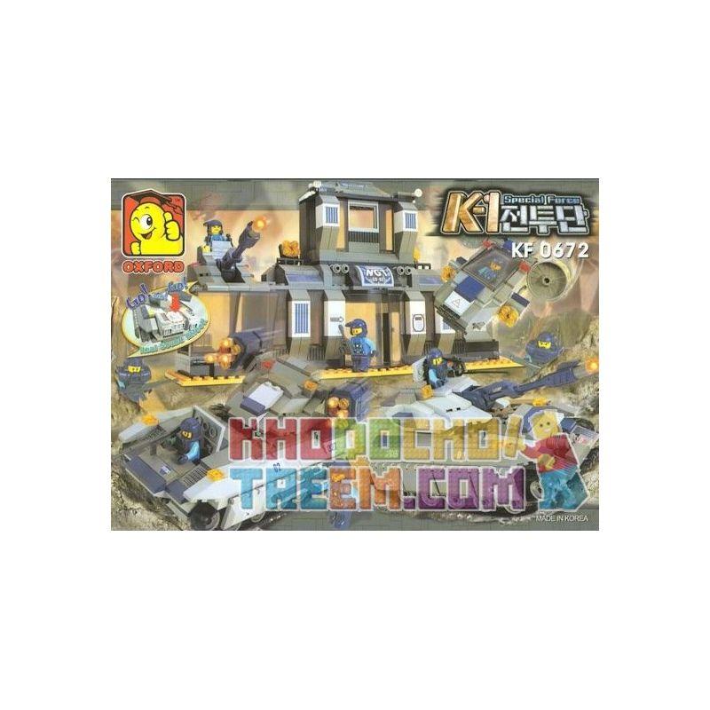 OXFORD KF0672 0672 Xếp hình kiểu Lego MILITARY ARMY K-1 Special Forces Set Lực Lượng đặc Biệt K-1