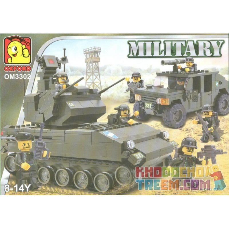 OXFORD OM3302 3302 Xếp hình kiểu Lego MILITARY ARMY Tank And Humvee Tank And Hummer Tank Và Hummer 494 khối
