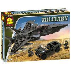 OXFORD OM3304 3304 Xếp hình kiểu Lego MILITARY ARMY Jet And Jeep Airplane And Jeep Máy Bay Và Xe Jeep 364 khối