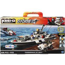 KRE-O A2355 2355 Xếp hình kiểu Lego Thunderwave Jet Boat Construction Set Special Forces Leibo Spray Water Promoter Thuyền đẩy Phản Lực Nước Leibo 226 khối