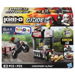 KRE-O A3361 3361 Xếp hình kiểu Lego Checkpoint Alpha Construction Set Special Forces Trạm Kiểm Soát Alpha 83 khối