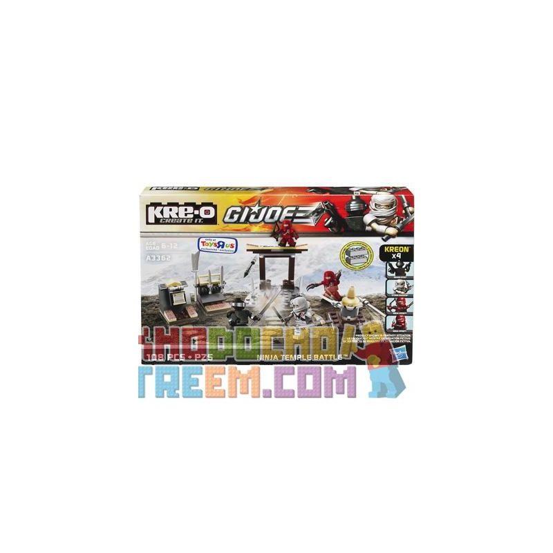KRE-O A3362 3362 Xếp hình kiểu Lego Ninja Temple Battle Construction Set Special Forces Ninja Temple Fight Ninja Temple Fight. 108 khối