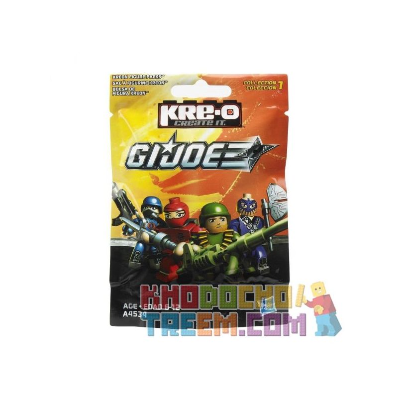 KRE-O A4534 4534 Xếp hình kiểu Lego Series 1 Kreon Figure Pack {Random} Special Forces Series 1 Person, Random, Random Túi Minifigure Dòng 1 (ngẫu Nhiên) 2 khối