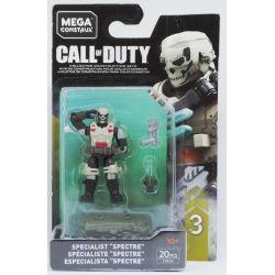 "MEGA BLOKS FVF94 Xếp hình kiểu Lego Specialist ""Spectre"" Call Of Duty Special Forces ""SpecTre"" Lực Lượng đặc Biệt ""Spectre"" 20 khối"