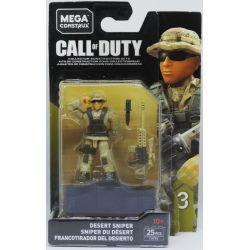 MEGA BLOKS FVF96 Xếp hình kiểu Lego Desert Sniper Call Of Duty Desert Snipeman Bắn Tỉa Sa Mạc 25 khối