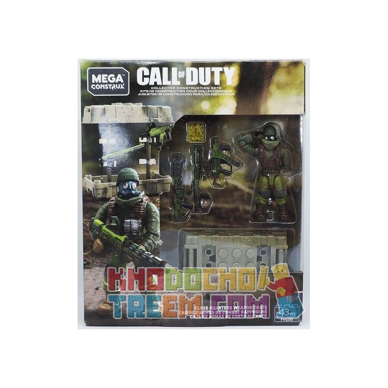 MEGA BLOKS FVG00 Xếp hình kiểu Lego Close Quarters Weapon Crate Call Of Duty Mele War Hộp Vũ Khí Cận Chiến 43 khối