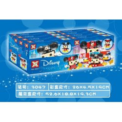 SX 3047A 3047B 3047C 3047D Xếp hình kiểu Lego DISNEY PRINCESS Disneych 4 Miqi Machica, Mi Ni, Donald Machine A, Di Siki gồm 4 hộp nhỏ 629 khối