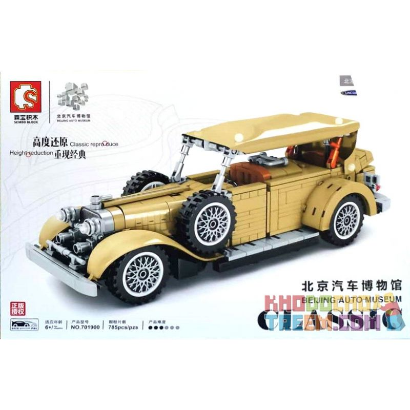 SEMBO 701900 Xếp hình kiểu Lego CREATOR Beijing Auto Museum Lincoln Classic Classic Car Xe Cổ Lincoln 785 khối