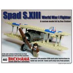 BRICKMANIA 402 Xếp hình kiểu Lego MILITARY ARMY Spad S.xiii Fighter Máy Bay Chiến đấu SPAD S.XIII 272 khối
