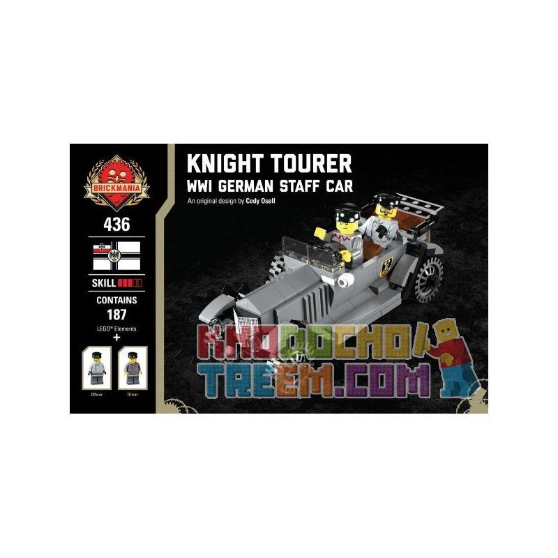 BRICKMANIA 436 Xếp hình kiểu Lego MILITARY ARMY Knight Tourer - WWI German Staff Car Knight Toura - A Battle Of German Command Knight Tourer-Xe Chỉ Huy Của Đức Trong Thế Chiến I 187 khối