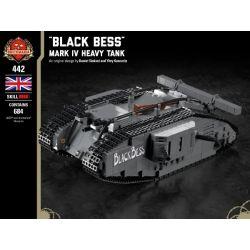 """BRICKMANIA 442 Xếp hình kiểu Lego MILITARY ARMY """"Black BESS"""" - Mark IV Heavy Tank Xe Tăng Hạng Nặng """"Black Bess"""" -Mark IV 684 khối"""
