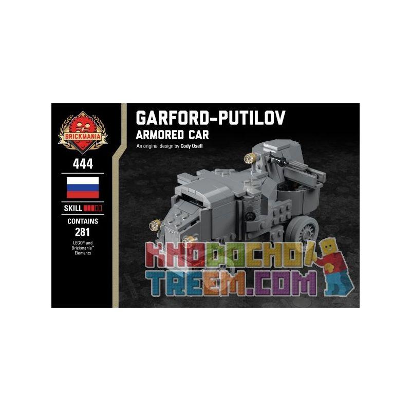 BRICKMANIA 444 Xếp hình kiểu Lego MILITARY ARMY Garford-Putilov Armored Car Garford - Putilov Armored Vehicles Xe Bọc Thép Garford-Putilov 281 khối