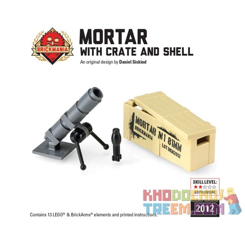 BRICKMANIA 2012 Xếp hình kiểu Lego MILITARY ARMY M1 81mm Mortar Pack M1 81mm Cối 13 khối