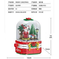 ZHEGAO QL0985 0985 Xếp hình kiểu Lego Merry Christmas Christmas Music Box Hộp Nhạc Giáng Sinh 348 khối