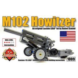 BRICKMANIA 1009 Xếp hình kiểu Lego MILITARY ARMY M102 Howitzer M102 Grenaders Lựu Pháo M102 115 khối