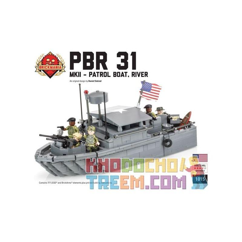 BRICKMANIA 1015 Xếp hình kiểu Lego MILITARY ARMY PBR 31 MkII – Patrol Boat, River PBR 31 MKII - Patrol Boat PBR 31 MkII-Tàu Tuần Tra 653 khối