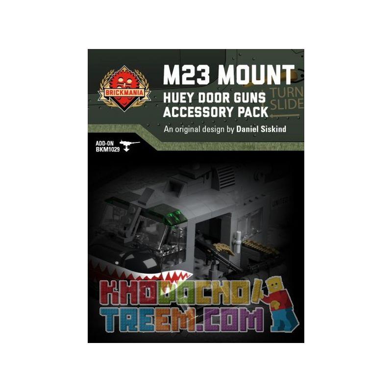 BRICKMANIA 016 Xếp hình kiểu Lego MILITARY ARMY M23 Mount - Huey Door Guns Accessory Pack M23 Bracket - Houy Helicopter Machine Gun Accessories Package Bộ Phụ Kiện Súng Máy Trực Thăng Huey Bracket-Hue