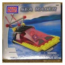 MEGA BLOKS 5801 Xếp hình kiểu Lego Sea Racer Marine Boat Chèo Thuyền Trên Biển 73 khối