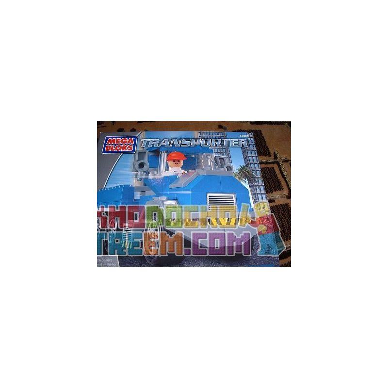 MEGA BLOKS 5803 Xếp hình kiểu Lego CITY Transporter Transport Vehicle Người Vận Chuyển 95 khối