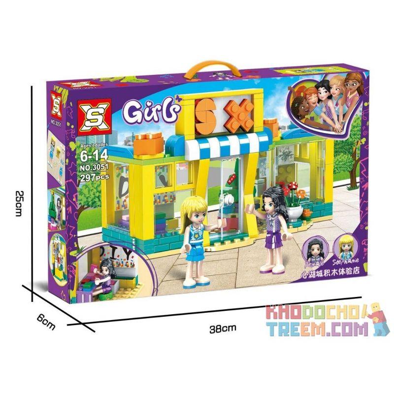 SX 3051 Xếp hình kiểu Lego FRIENDS Good Friend Heart Lake City Experience Shop Cửa Hàng Trải Nghiệm Heart Lake City 297 khối