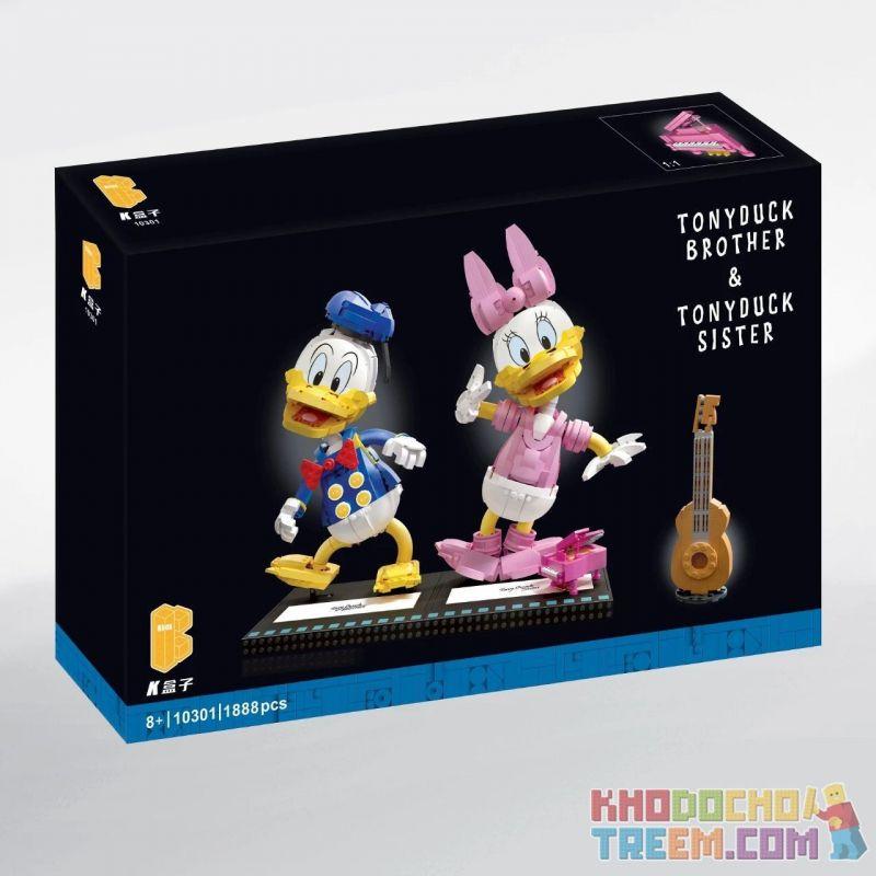 KBOX 10301 Xếp hình kiểu Lego CREATOR TonyDuck Brother & TonyDuck Sister Tang Lao Duck And Der Vịt Tang Lào Và Der 1888 khối