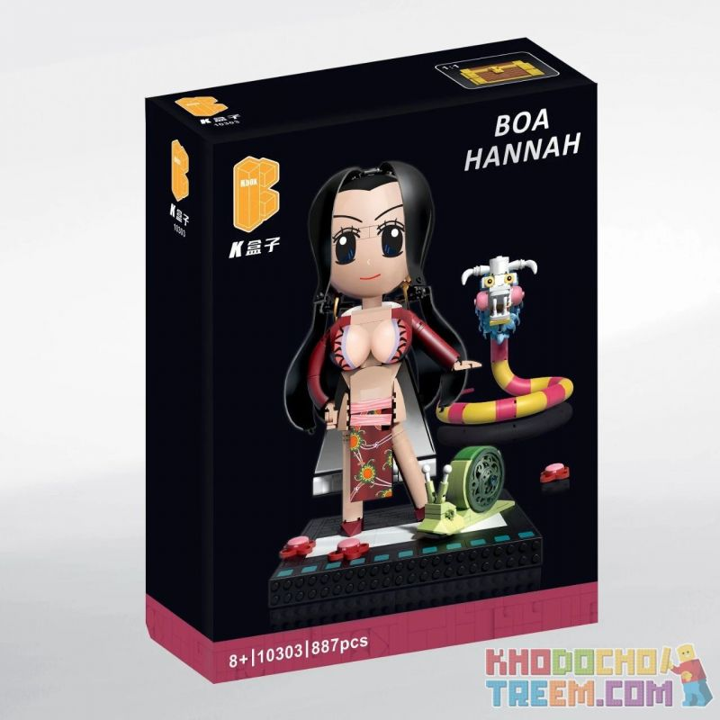 KBOX 10303 Xếp hình kiểu Lego Boa Hannah One Piece Emperor Hanami / Katsudo Hoàng Hậu Nami Masaru 887 khối