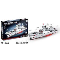 Winner 8072 Xếp hình kiểu Lego MILITARY ARMY Fighting Boat BattleShip Airborne Warship Destroyer Kẻ Huỷ Diệt 1449 khối