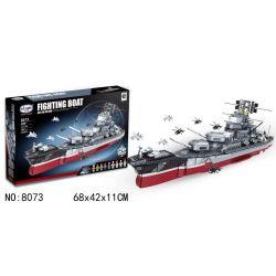 Winner 8073 Xếp hình kiểu Lego MILITARY ARMY Fighting Boat BattleShip Airborne Warship Strategic Ship Tàu Chiến Lược 1981 khối