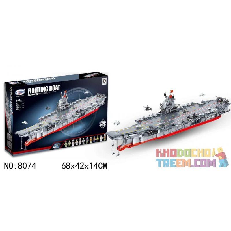 Winner 8074 Xếp hình kiểu Lego MILITARY ARMY Fighting Boat Aircraft Carrier Airborne Warship Tàu Sân Bay 2639 khối