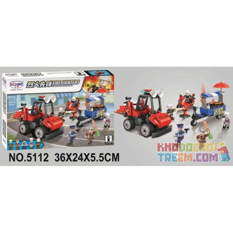 Winner 5112 Xếp hình kiểu Lego FIRE RESCURE Fire Fighters Pioneer Multi-function Fire Motorcycle Xe Máy Chữa Cháy đa Chức Năng 267 khối