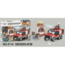 Winner 5114 Xếp hình kiểu Lego FIRE RESCURE Fire Fighters Pioneer Multi-function Fire Truck Xe Cứu Hỏa đa Năng 321 khối