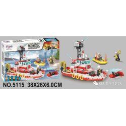 Winner 5115 Xếp hình kiểu Lego FIRE RESCURE Fire Fighters Pioneer Multi-function Fire Boat Thuyền Cứu Hỏa đa Chức Năng 321 khối