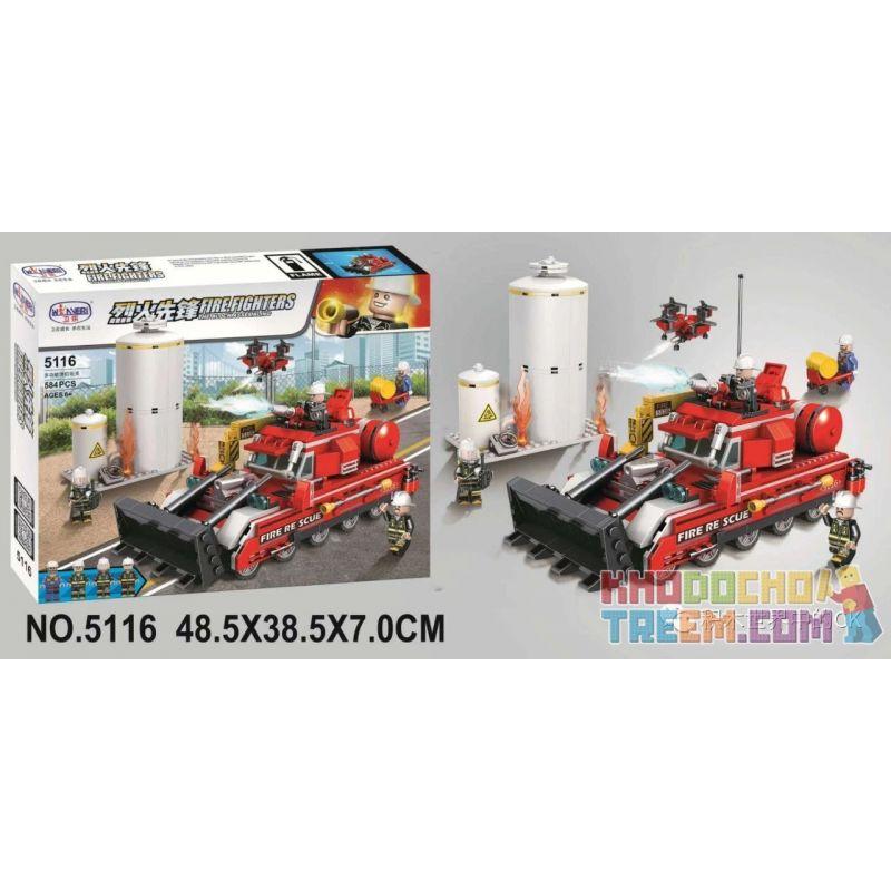 Winner 5116 Xếp hình kiểu Lego FIRE RESCURE Fire Fighters Pioneer Multi-function Fire Tank Bể Chữa Cháy đa Chức Năng 584 khối