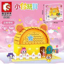 SEMBO 604014 Xếp hình kiểu Lego FRIENDS 小 伶 玩 604014 640 khối