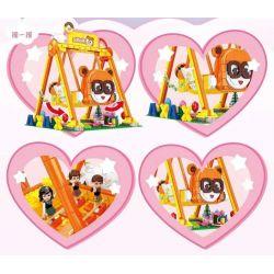 SEMBO 604015 Xếp hình kiểu Lego FRIENDS 小 伶 玩 Summer And Summer Swing Swing Mùa Hè Và Mùa Hè 1293 khối