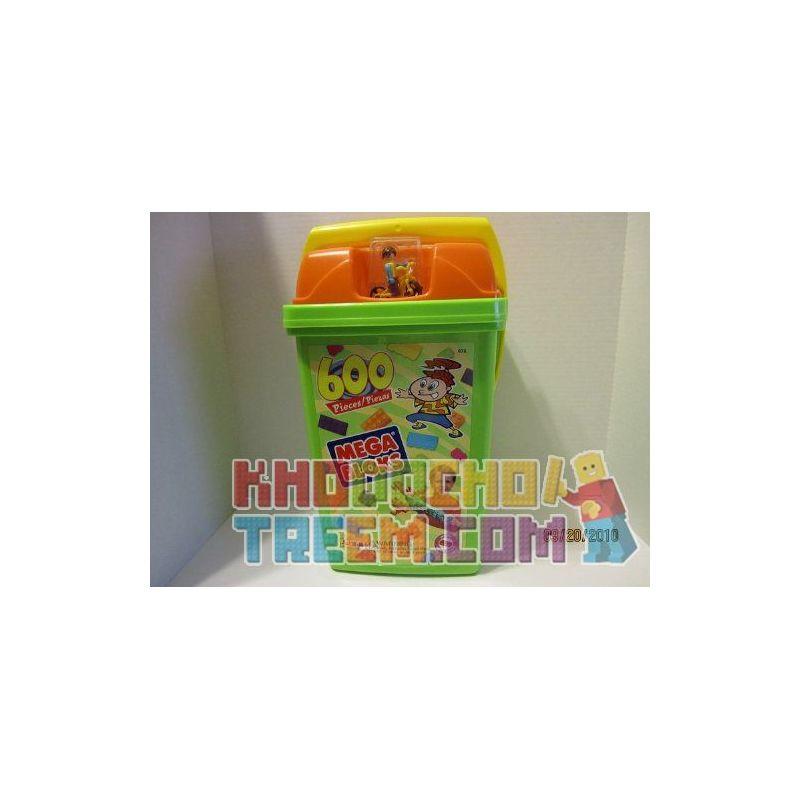 MEGA BLOKS 976 Xếp hình kiểu Lego 600-Piece Set W Bucket 600 Sets Of W Barrels 600 Mảnh đặt W Thùng 600 khối