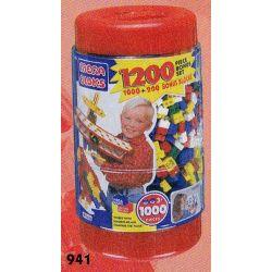 MEGA BLOKS 941 Xếp hình kiểu Lego 1200 Pieces Bucket 1200-barrel Thùng 1200 Khối 1200 khối